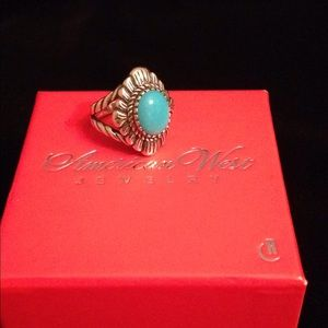 American West SS Sleeping Beauty Turquoise Ring